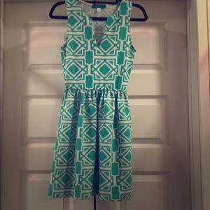 Francesca's geometric print dress